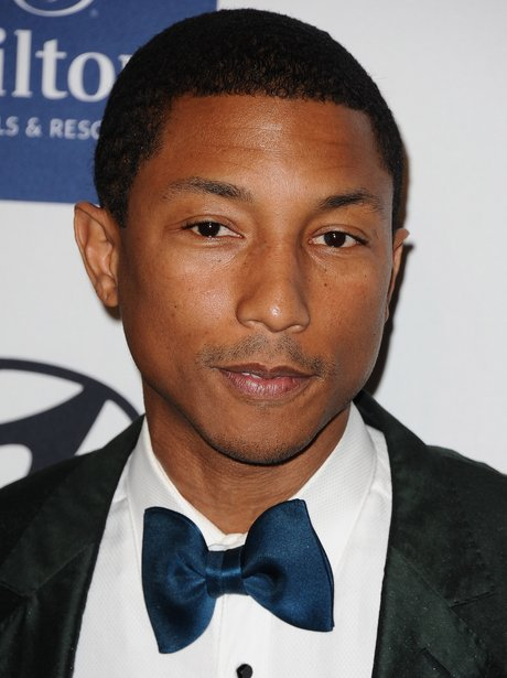 pharrell at a pre grammys show