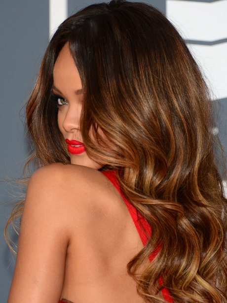 Rihanna at the 2013 Grammy Awards