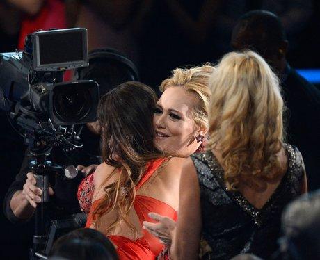 Rihanna and Adele at the 2013 Grammy Awards