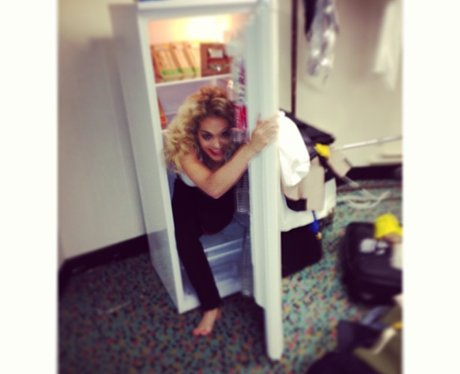 Rita Ora in a fridge on Twitter