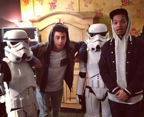 Rizzle Kicks pose with stormtroopers