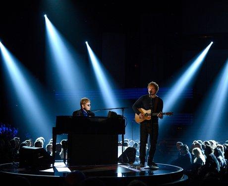 Sir Elton John and Ed Sheeran live at the 2013 Grammys