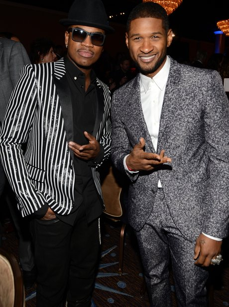 ne-yo with usher at grammys party