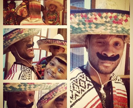 Usher dresses as a Mexican