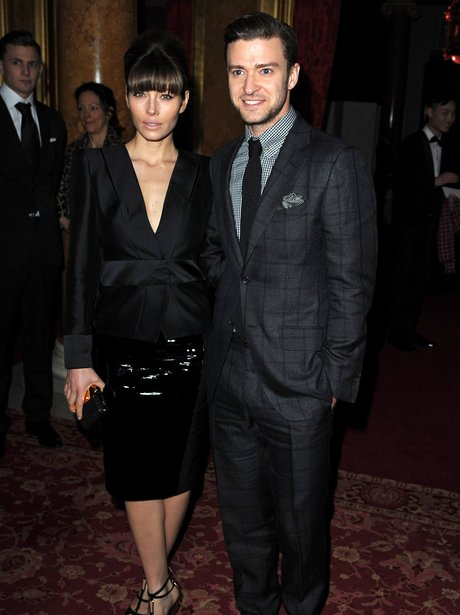 Jessica Biel and Justin Timberlake wearing Tom Ford suit