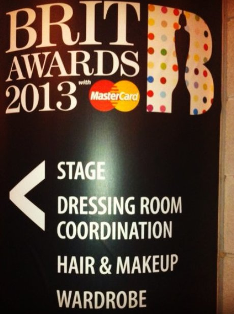 BRIT Awards 2013: Backstage