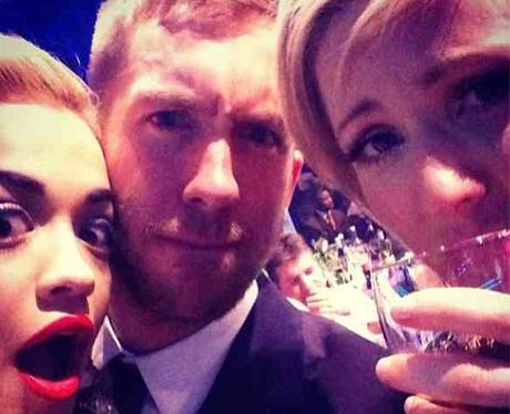 Calvin harris, Rita Ora and Ellie Goulding at the BRIT Awards