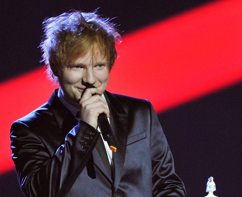 Ed Sheeran BRIT Awards 2013 On Stage