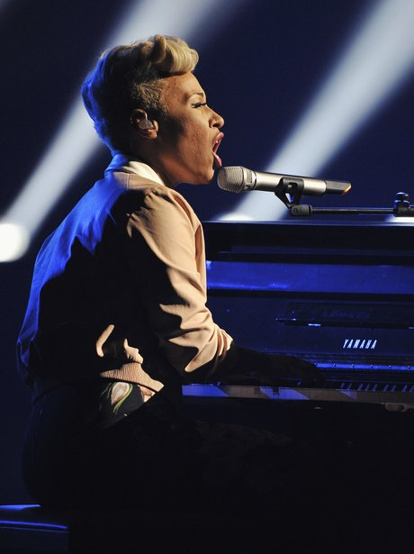 Emelie Sande performs at The Brit Awards