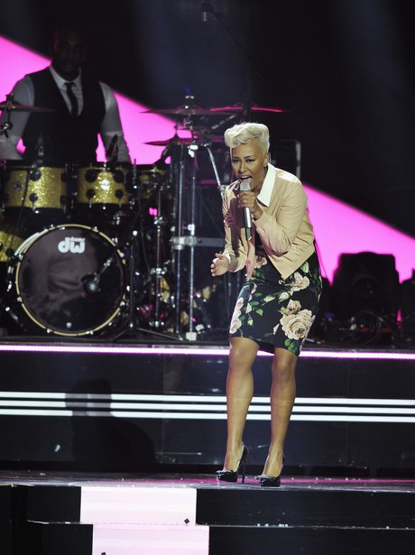 Emelie Sande performs at The Brit Awards