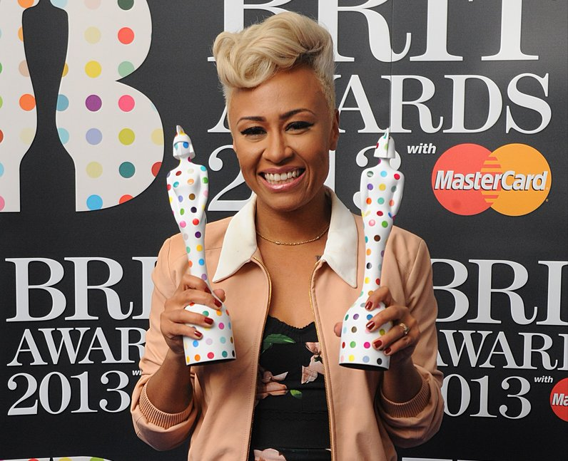 Emelie Sande backstage at the BRIT Awards 2013