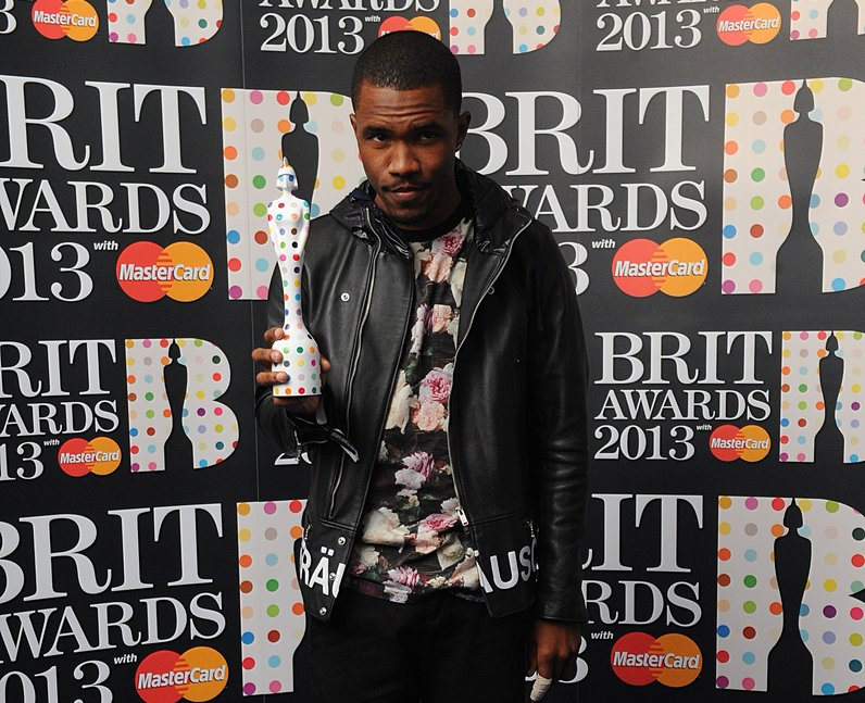 Frank Ocean backstage at the BRIT Awards 2013