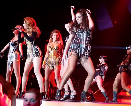 Girls Aloud on tour in the UK