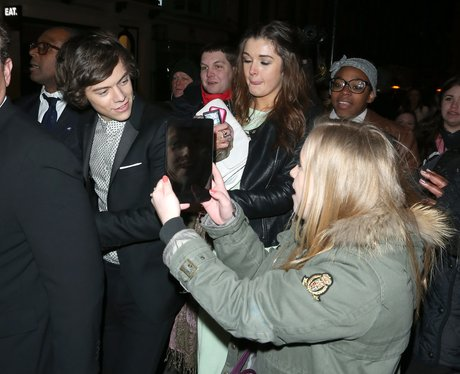 Harry Styles at a BRIT Awards 2013 after party