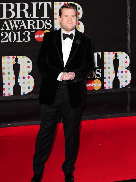 James Corden arriving for the 2013 Brit Awards