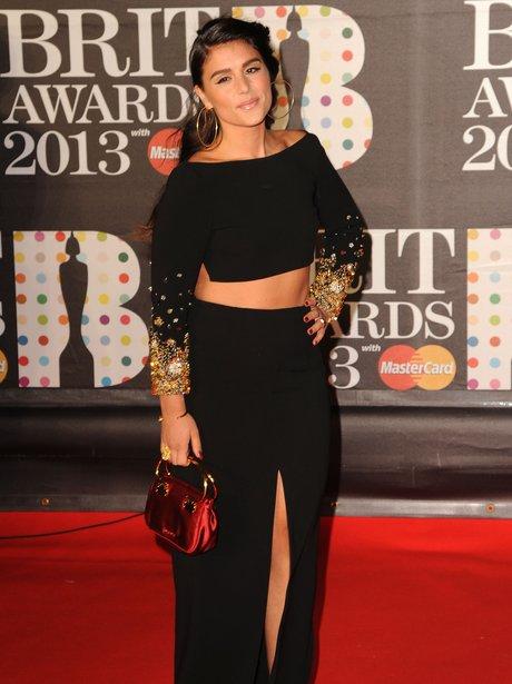 Jessie Ware attends the Brit Awards 201