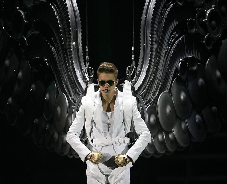 Justin Bieber on tour in the UK