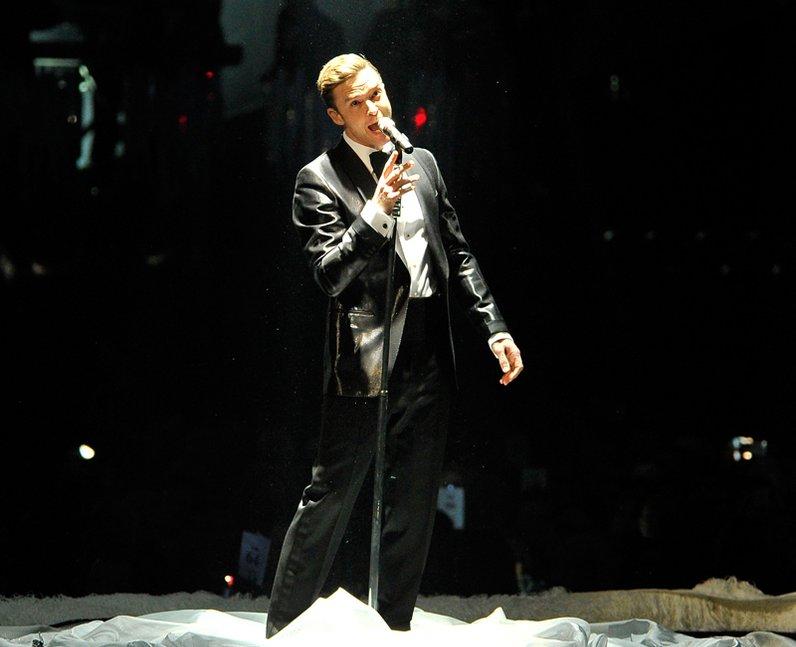 Justin Timberlake live at the BRIT Awards 2013