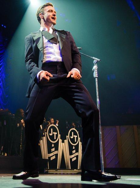 Justin Timberlake performs at the Forum