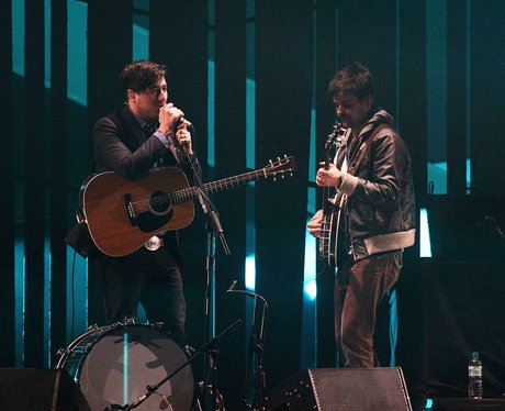 Mumford and Sons live at the BRIT Awards 2013