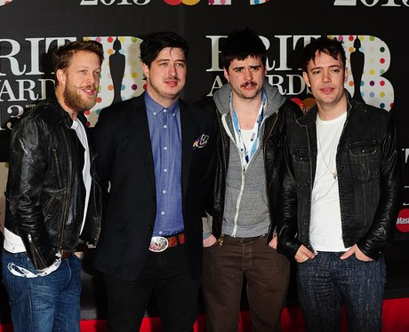 Mumford & Sons arrive at the BRIT Awards 2013