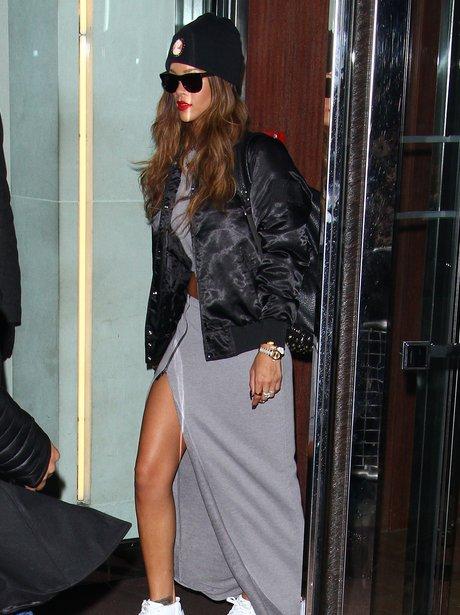 Rihanna wearing sunglasses in London