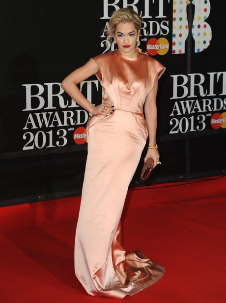 Rita Ora attends the Brit Awards 2013