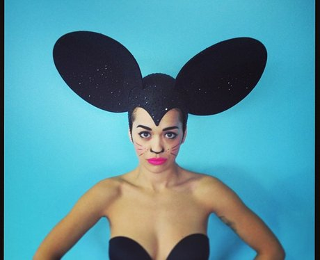 Rita Ora dressed as a mouse