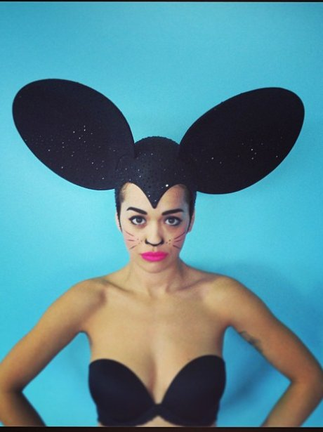 10. Rita Ora As A Mouse!  sc 1 st  Capital FM & Capitalu0027s Fancy Dress Picks: The Best Costumes For Christmas And New ...