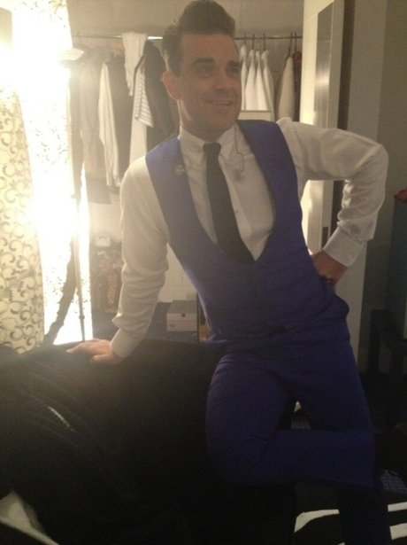 Robbie Williams at the BRIT Awards in London