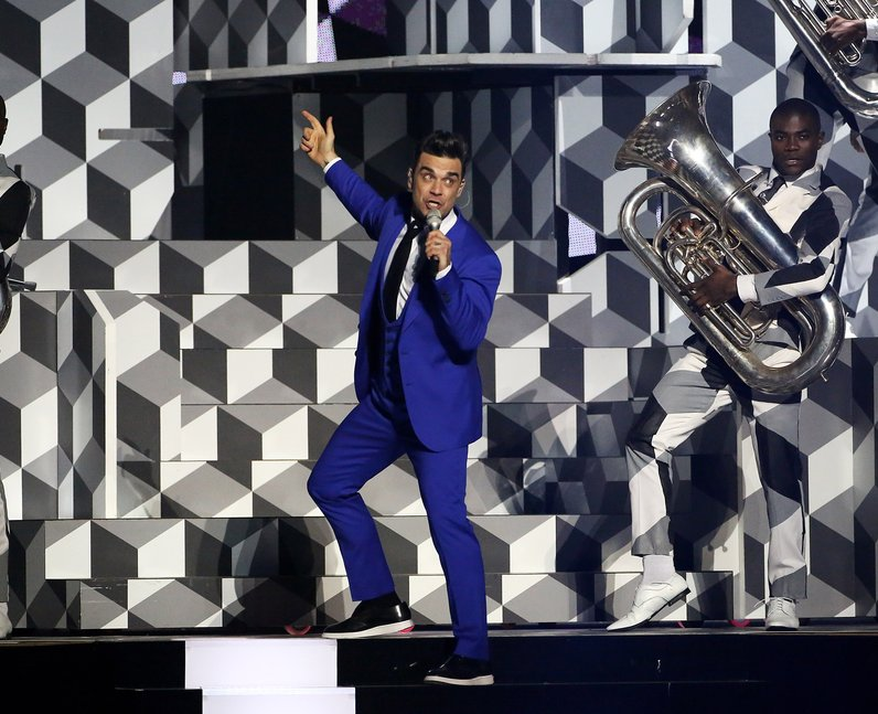 Robbie Williams live at the BRIT Awards 2013