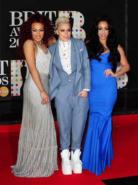Stooshe arrive at the BRIT Awards 2013