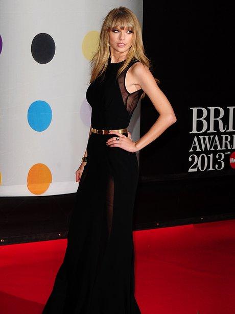 Taylor Swift at the BRIT Awards 2013