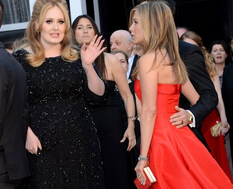 Adele and Rachel Aniston at the Oscars