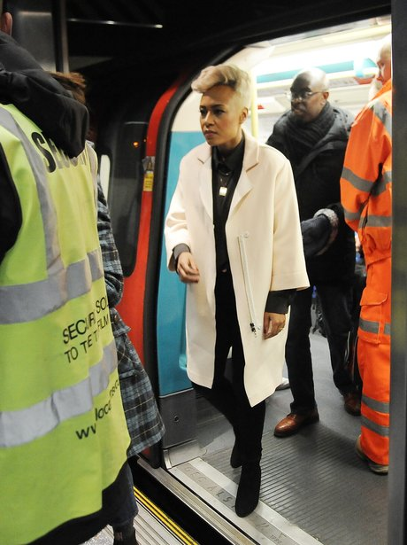 Emeli Sande filming her new video on the tube