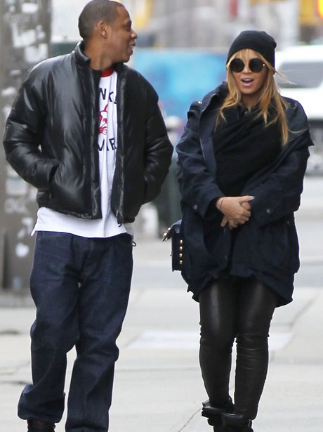 Jay Z and Beyonce and Blue Ivy out in New York