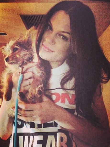 Jessie J with a dog