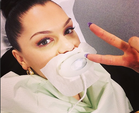 Jessie J at the dentists before the BRITs 2013