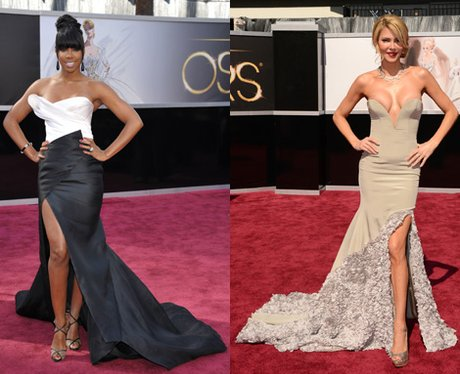 Kelly Rowland and Brandi Glanville at the Oscars 2013