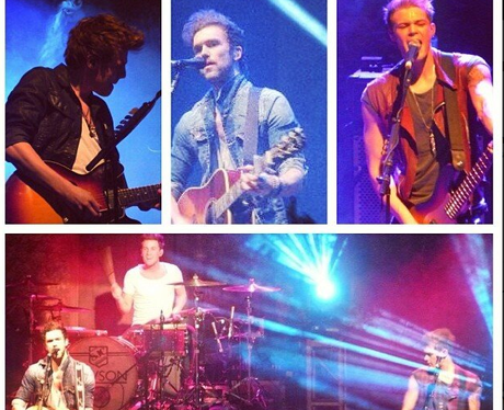 Lawson share pictures from their 'Chapman Square' UK tour