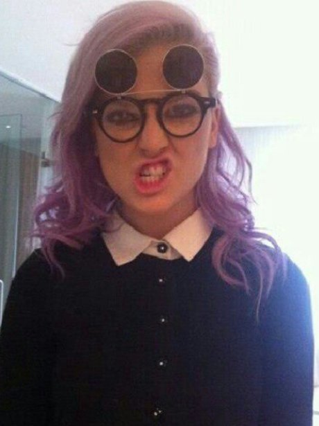 Perrie Edwards wearing glasses