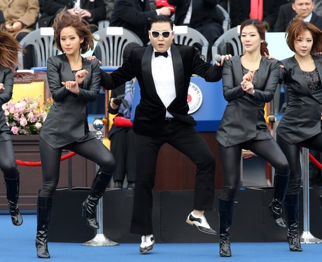 PSY performing 'Gangnam Style'