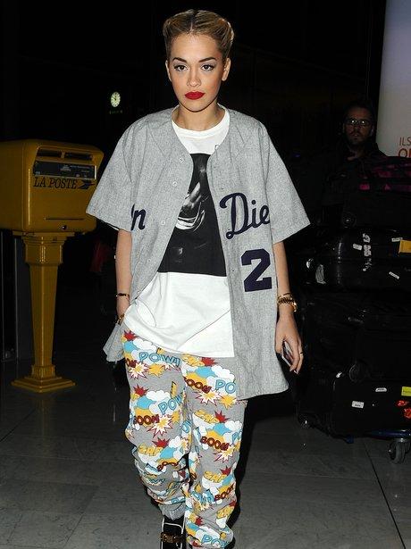 Rita Ora at Paris Fashion Week in 2013
