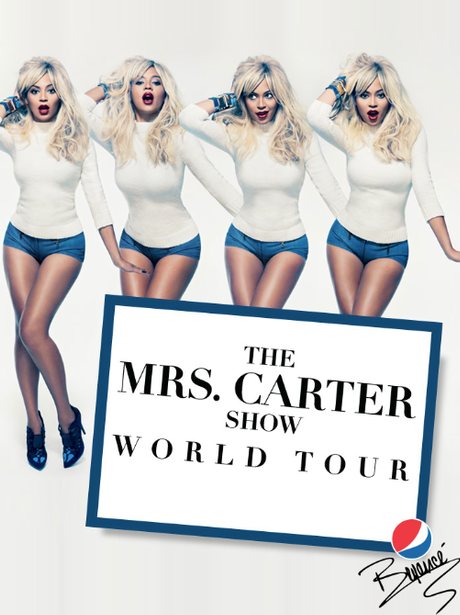 Beyonce's new Mrs. Carter Tour poster
