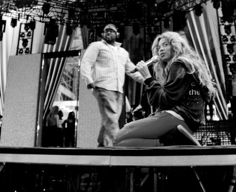 Beyonce at rehearsals for her world tour