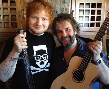 Ed Sheeran and Peter Jackson pose together