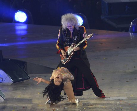 Jessie J performs with Brian May