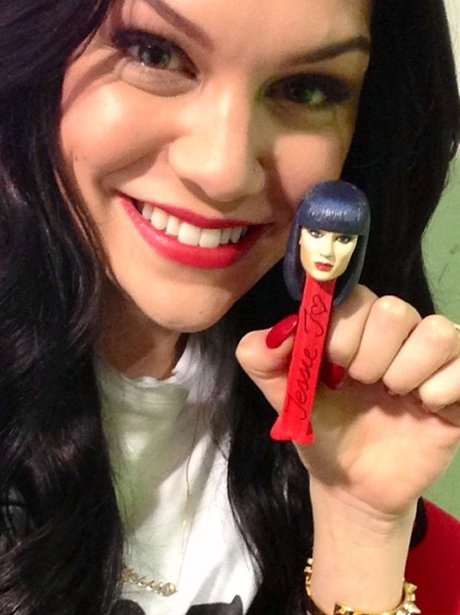 Jessie J with her own pez dispenser