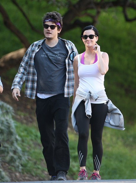John Mayer and Katy Perry go hiking