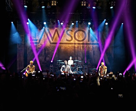 Lawson perform on their 'Chapman Square' UK tour